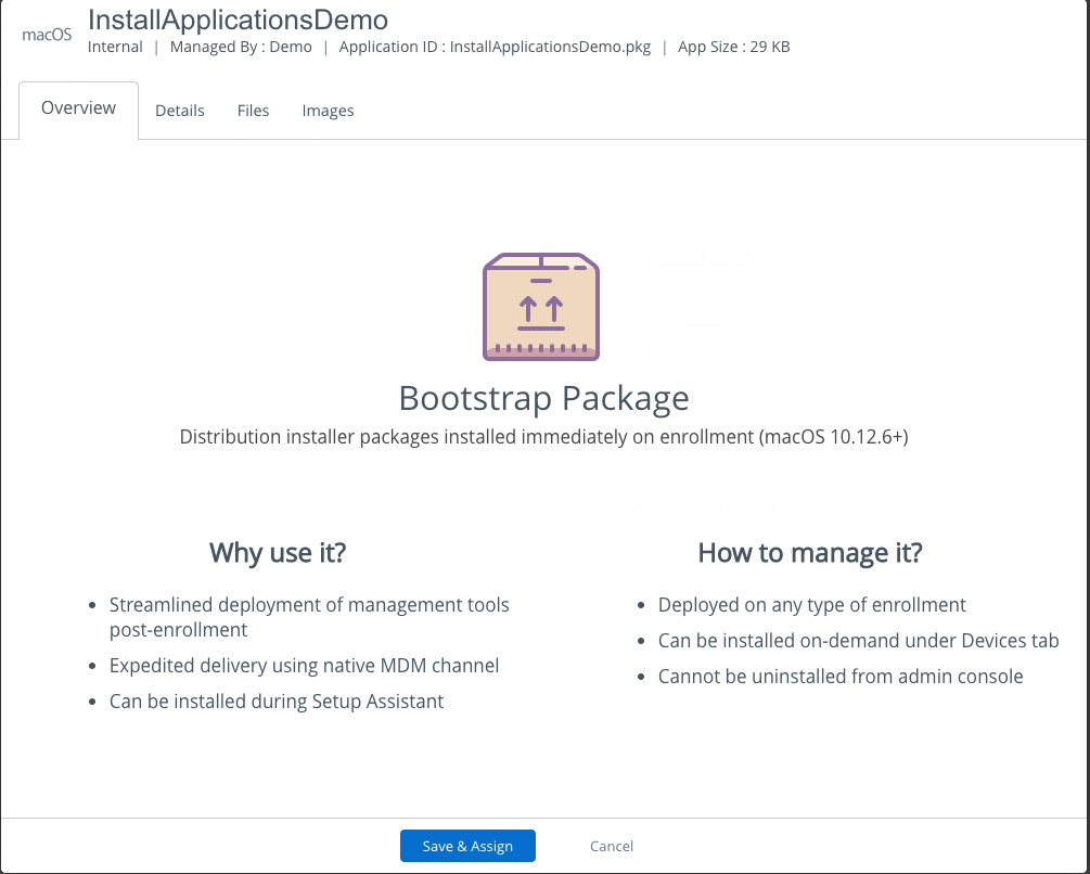 AirWatch - Bootstrap Pkg